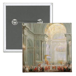 Interior of a St. Peter's, Rome 15 Cm Square Badge