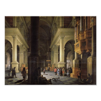 Interior of a Temple, 1652 Poster