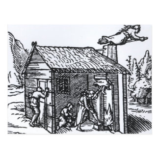 Interior of a Witch's House, 1579 Postcard