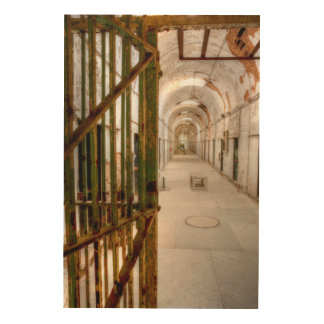 Interior Of Abandoned Prison Wood Print
