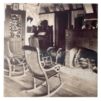 Interior of an American wooden shack, c.1880s (pho Tiles