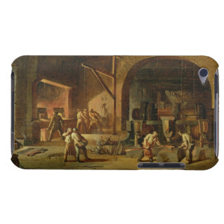 Interior of an Ironworks, 1850 (oil on canvas) iPod Touch Cover