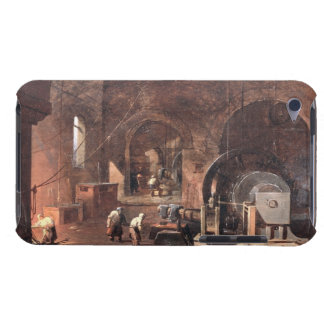 Interior of an Ironworks, c.1850-60 (oil on canvas iPod Case-Mate Case