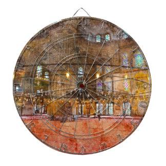 Interior of Blue Mosque in Istanbul Turkey Dartboard