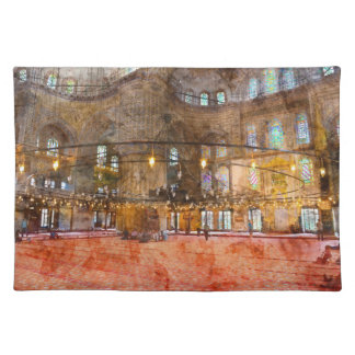 Interior of Blue Mosque in Istanbul Turkey Placemat