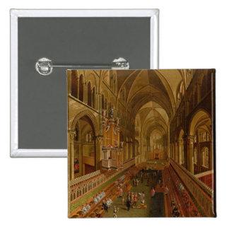 Interior of Canterbury Cathedral, c.1675-1700 (oil 15 Cm Square Badge