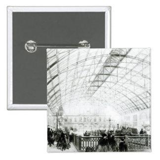 Interior of Charing Cross station 15 Cm Square Badge
