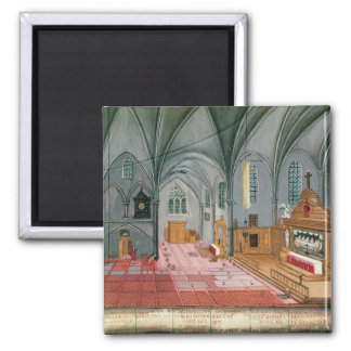 Interior of Church from L Abbaye de Fridge Magnet