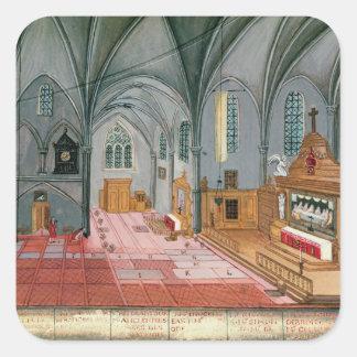 Interior of Church from L Abbaye de Sticker