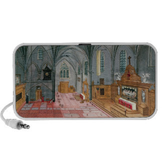 Interior of Church, from 'L'Abbaye de Notebook Speaker