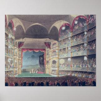 Interior of Drury Lane Theatre, 1808 Poster