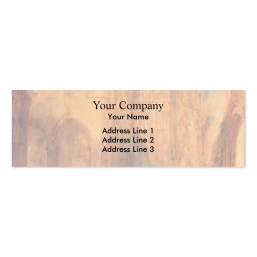 Interior of Fountains Abbey by William Turner Business Card