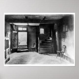 Interior of Johann Sebastian Bach's  house Poster