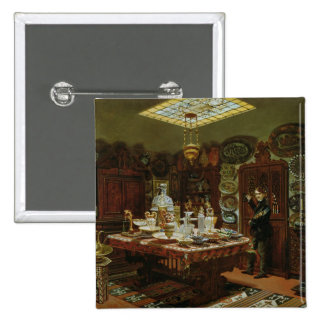Interior of Monsieur Sauvageot's Collection 15 Cm Square Badge