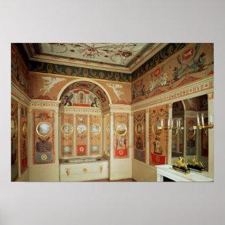 Interior of Napoleon's bathroom, built in 1807 Poster
