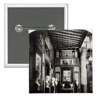 Interior of Prince Napoleon's Palais Pompeian 15 Cm Square Badge