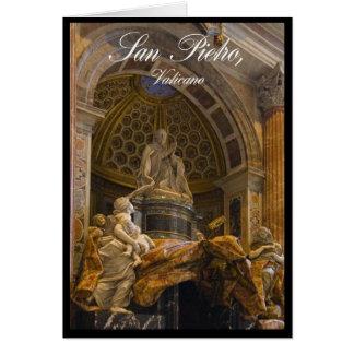 Interior of Saint Peter's Basilica in Vatican Card