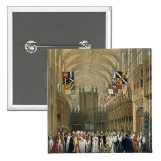 Interior of St George's Chapel, 1838 (colour litho 15 Cm Square Badge
