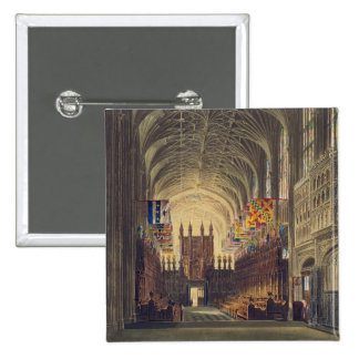 Interior of St. George's Chapel, Windsor Castle, f 15 Cm Square Badge