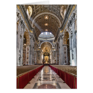Interior of St. Peter's Basilica Card