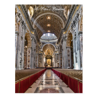 Interior of St. Peter's Basilica Postcard
