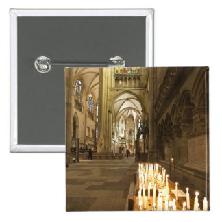Interior of St. Peter's Cathedral in Regensburg 15 Cm Square Badge