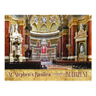 Interior of St. Stephen's Basilica in Budapest Postcard