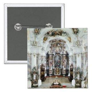 Interior of the benedictine abbey church 15 cm square badge
