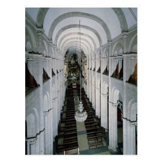 Interior of the cathedral begun in 1078 postcard