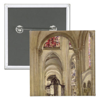 Interior of the Cathedral of St. Etienne, Sens 15 Cm Square Badge