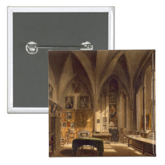 Interior of the Chapter House, illustration from t 15 Cm Square Badge