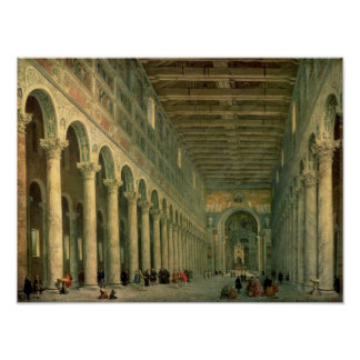 Interior of the Church of San Paolo Fuori le Poster