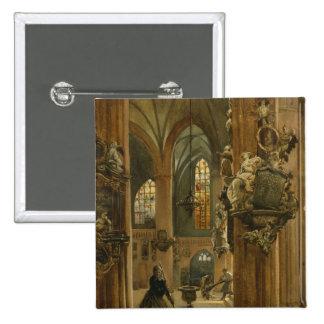 Interior of the Church of St. Nicholas, Berlin 15 Cm Square Badge
