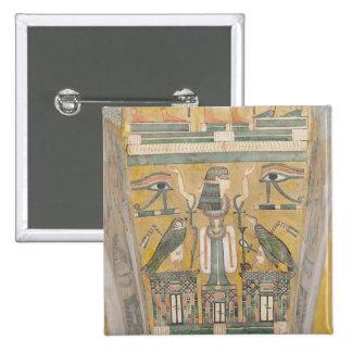 Interior of the coffin of Imenemipet 15 Cm Square Badge