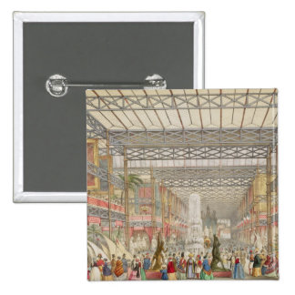Interior of the Crystal Palace, pub. by Stannard a 15 Cm Square Badge