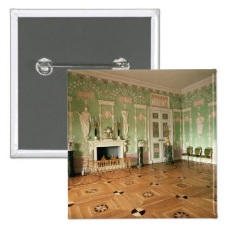Interior of the Green Dining Room 15 Cm Square Badge