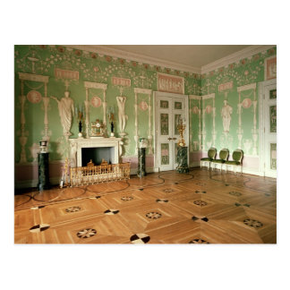 Interior of the Green Dining Room Postcard