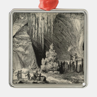 Interior of the Grotto of Antiparos Metal Ornament