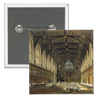 Interior of the Hall of Christ Church, illustratio 15 Cm Square Badge