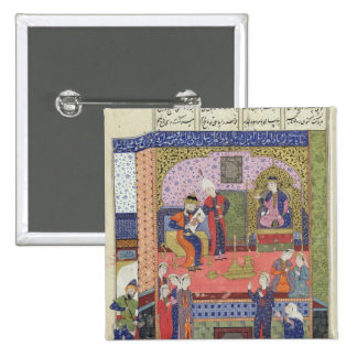 Interior of the King of Persia's Palace 15 Cm Square Badge