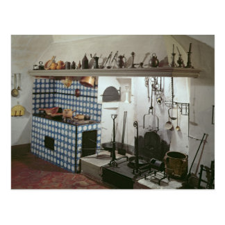 Interior of the kitchen of the Hotel de Cabris Postcard