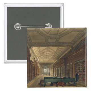 Interior of the Library of Christ Church, illustra 15 Cm Square Badge