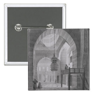Interior of the Mosque of Kaid-Bey, plate 55 from 15 Cm Square Badge