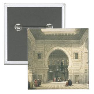 Interior of the Mosque of Sultan Hasan, Cairo, fro 15 Cm Square Badge