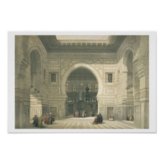 Interior of the Mosque of Sultan Hasan, Cairo, fro Poster