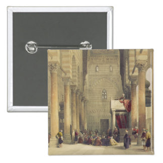 Interior of the Mosque of the Metwalys, Cairo, fro 15 Cm Square Badge