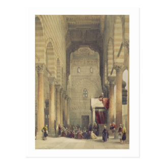 Interior of the Mosque of the Metwalys, Cairo, fro Postcard