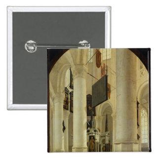 Interior of the Nieuwe Kerk 15 Cm Square Badge