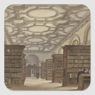 Interior of the Public Library, Cambridge, from 'T Square Sticker