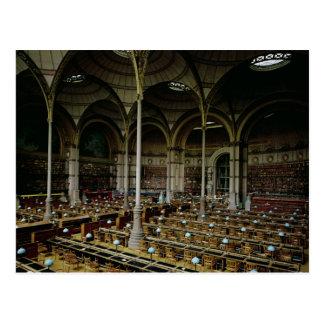 Interior of the 'Salle des Imprimes', 1868 Postcard